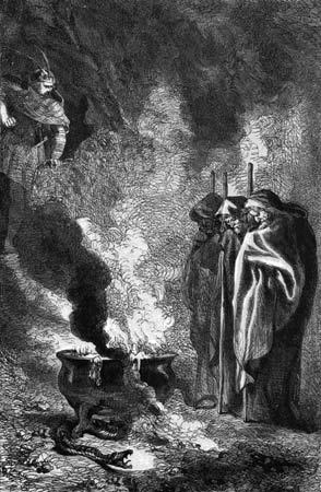 weird sisters and cauldron