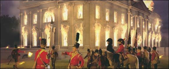 British burning White House