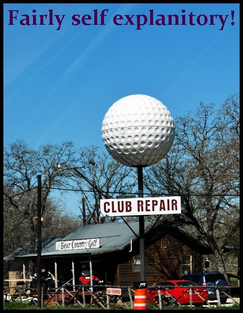 Golf Ball Sign