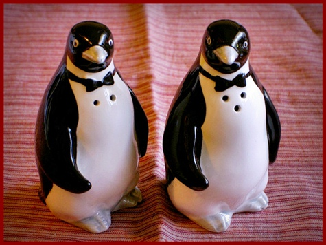 penguin salt and pepper shaker