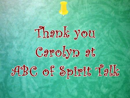 Thank you Carolyn