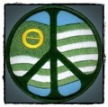 peace sign ecology flag