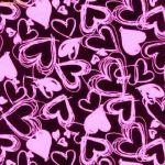 purple and lavender hearts