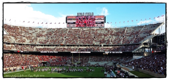 Kyle Field End Zone and Score Board 2014