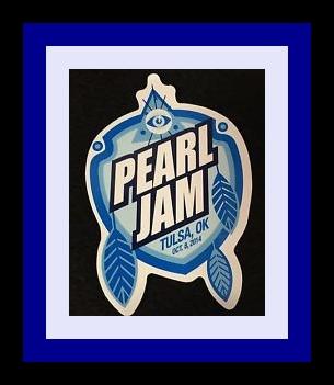 Tulsa OK Sticker Pearl Jam 2014