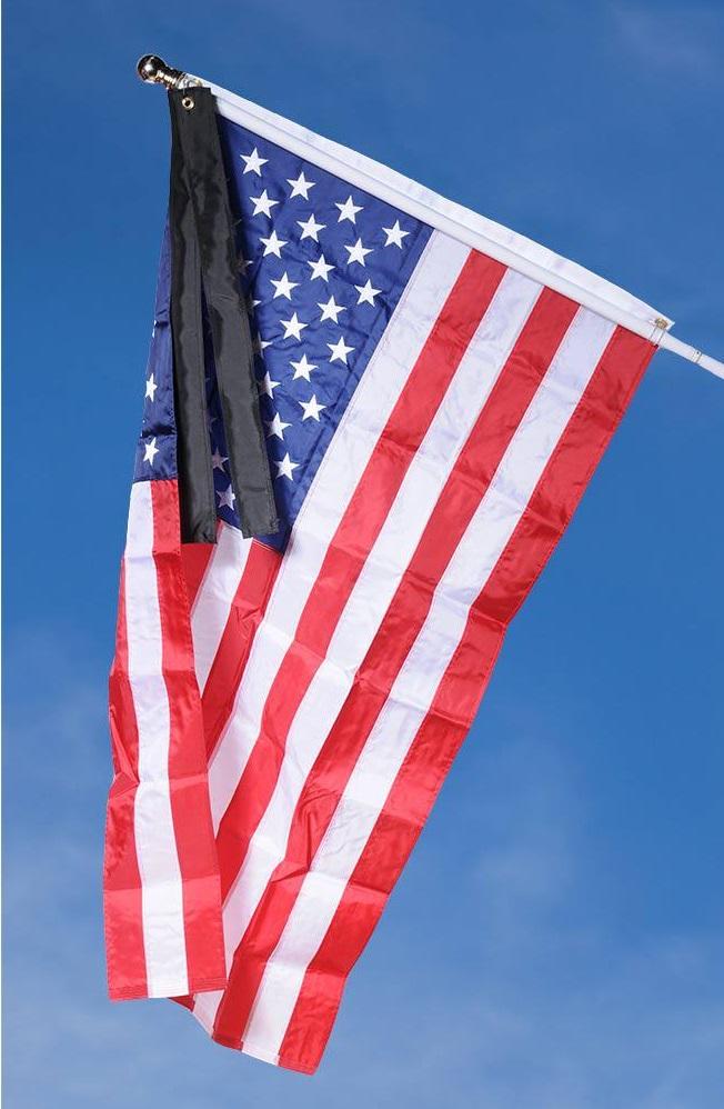flag mourning